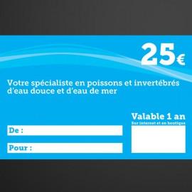 Chèque cadeau Univers Aquatique 25€