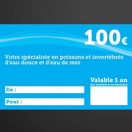 Chèque cadeau Univers Aquatique 100€