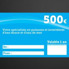 Chèque cadeau Univers Aquatique 500€